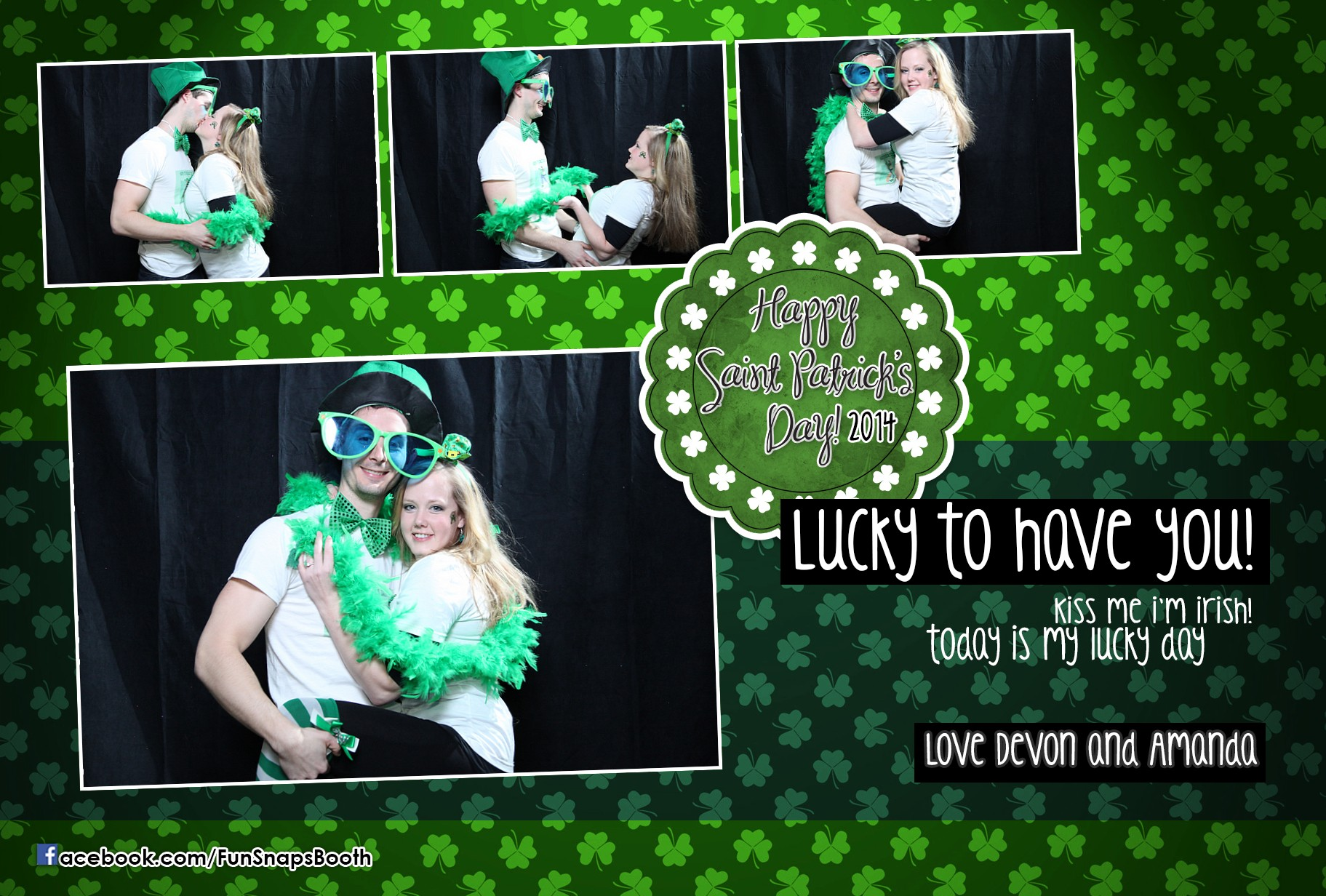 Devon And Amanda Stag And Doe Party St Patrick S Day Themed Photobooth Ayr Ontario